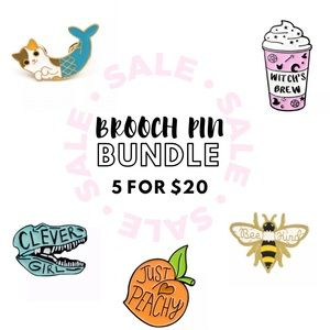 NEW Brooch Pin Bundle - All 5 items for $20